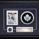 Doug Gilmour Toronto Maple Leafs signed card with puck frame
