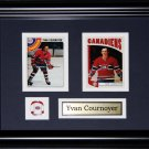 Yvan Cournoyer Montreal Canadiens 2 Card Frame