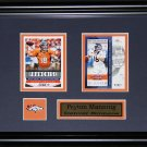 Peyton Manning Denver Broncos 2 card frame
