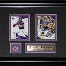 Brett Favre Minnesota Vikings 2 card frame