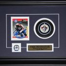 Dale Hawerchuk Winnipeg Jets signed card with puck frame