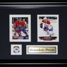 Brandon Prust Montreal Canadiens NHL 2 Card Frame
