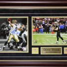 Drew Brees New Orlean Saints 2 photo signed frame