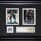 Ryan Clowe San Jose Sharkes 2 card frame