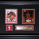 Custom Sports Double Card Memorabilia Frame NHL MLB NFL NBA Plaque Pin Matting