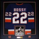 Mike Bossy New York Islanders signed jersey frame