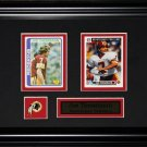 Joe Theismann Washington Redskin NFL 2 card frame
