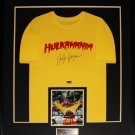 Hulk Hogan Hulkamania Signed Signature Shirt frame