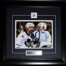 Doug Gilmour & Wendel Clark Toronto Maple Leafs signed 8x10 frame