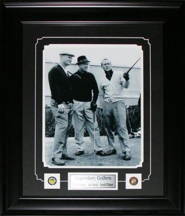 Jack Nicklaus Sam Sneod Arnold Palmer Vintage 11x14 golf frame