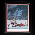 Paul Henderson Lithograph Signed by Henderson, Cournoyer, Frank Mahovlich, and R