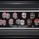 Ottawa Senators Jersey Evolution frame