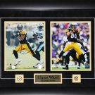 Hines Ward Pittsburgh Steelers signed 2 photo frame