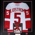 Nicklas Lidstrom Detroit Red Wings signed jersey frame