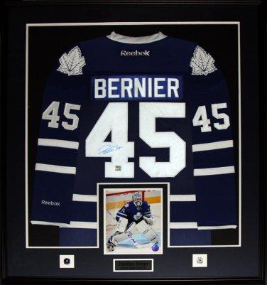 Jonathan Bernier Toronto Maple Leafs Signed jersey Frame