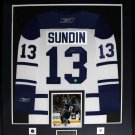Mats Sundin Toronto Maple Leafs signed white jersey frame