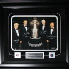 Henri Richard Guy Lafleur Jean Beliveau Yvan Cournoyer Stanley Cup signed 11x14