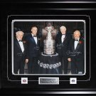 Henri Richard Guy Lafleur Jean Beliveau Yvan Cournoyer Stanley Cup signed 16x20