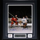 Jean Beliveau & Johnny Bower Signed 11x14 frame