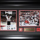 Jonathan Toews Chicago Blackhawks 2013 Stanley Cup signed 2 photo frame