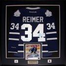 James Reimer Toronto Maple Leafs signed jersey frame