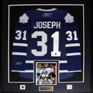 Curtis Joseph Toronto Maple Leafs signed jersey frame