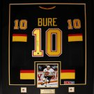 Pavel Bure Vancouver Canucks signed jersey frame