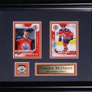 Connor McDavid Edmonton Oilers 2 card frame