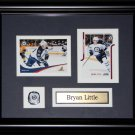 Bryan Little Winnipeg Jets 2 card frame