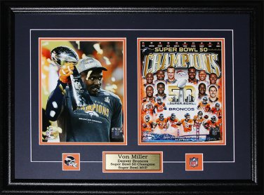 Von Miller Denver Broncos Superbowl 50 MVP 2 photo frame