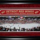 Detroit Red Wings Joe Louis Arena Panorama Deluxe rame