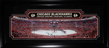 Chicago Blackhawks United Center Panorama Deluxe Frame