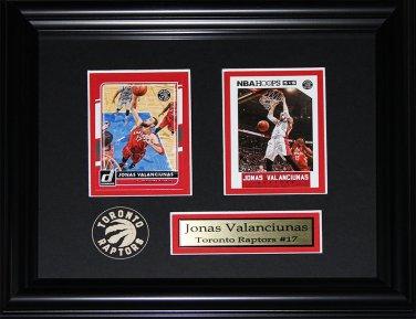 Jonas Valanciunas Toronto Raptors 2 card frame