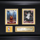 Lebron James Cleveland Cavaliers 2 card frame