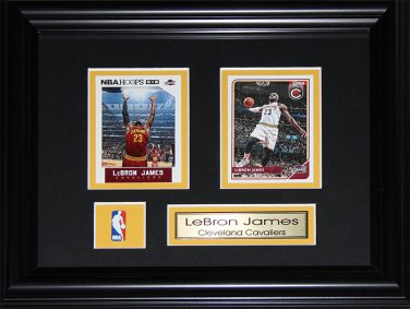 Lebron James Cleveland Cavaliers 2 card frame