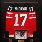 Connor McDavid Team Canada Juniors signed jersey frame
