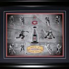 Montreal Canadiens Stanley Cup Forum Heroes 16x20 frame