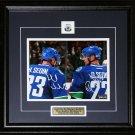 Herink Sedin & Daniel Sedin Vancouver Canucks signed 8x10 frame