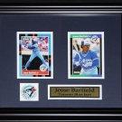 Jesse Barfield Toronto Blue Jays 2 card frame