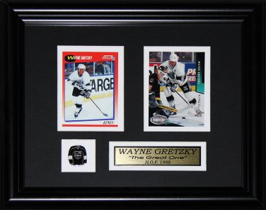 Wayne Gretzky Los Angeles Kings 2 card frame