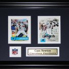 Cam Newton Carolina Panthers 2 card frame
