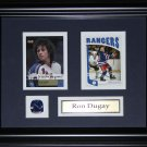 Ron Dugay New York Rangers 2 card frame