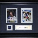 Ron Dugay New York Rangers 2 card frame