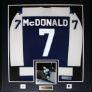 Lanny McDonald Toronto Maple Leafs signed jersey frame