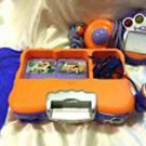 V TECH V SMILE SYSTEM BUNDLE 2 Video Games Lot TV Learning Console + Remote