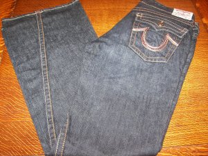TRUE RELIGION WOMENS RAINBOW JOEY JEANS SZ 27 NEW