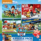 Paw Patrol 4-Pack of Puzzles