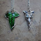 Lord of the Rings Elf Leaf and EvenStar erwin Pendant necklaces *set of two* Fas