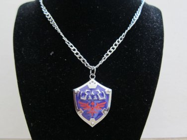 Shipping from USA Legend of Zelda Removable Master Shield Necklace Pendant