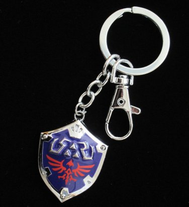 Fast shipping  Legend of Zelda Link metal  Hylian Shield Key Chain Ornament